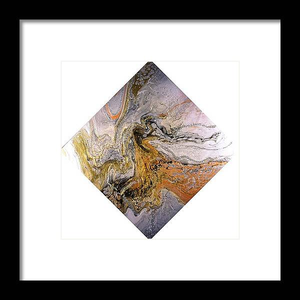 Abstract Framed Print featuring the painting Goddess by Patrick Mock