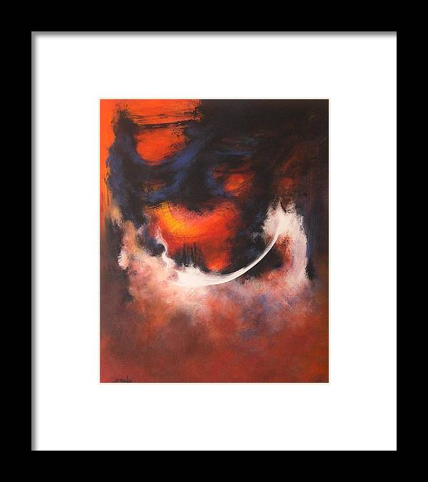 Abstract Framed Print featuring the painting Gods Eye by DEVARAJ DanielFranco