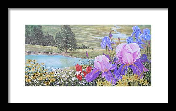 Landscape Framed Print featuring the painting Gods Glory 2 by Gary Duncan