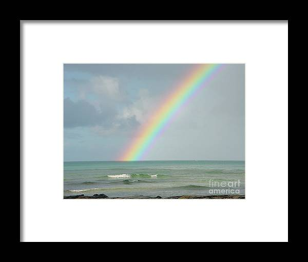 Rainbow Framed Print featuring the photograph Gods Smile by PJ Cloud