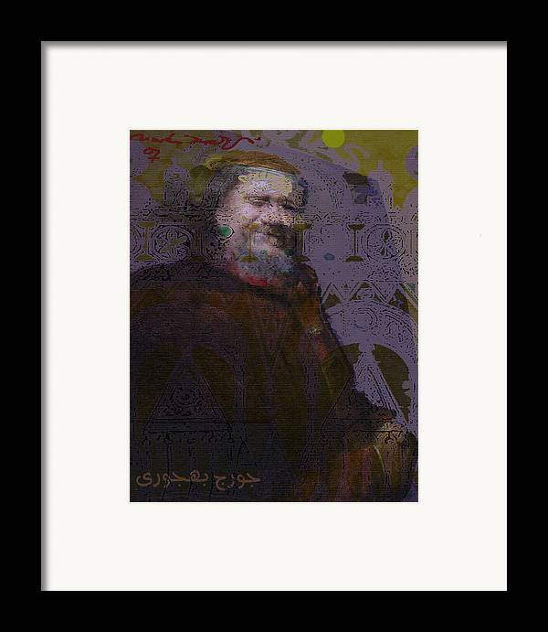 Framed Print featuring the painting Goerge Bahgory by Noredin Morgan