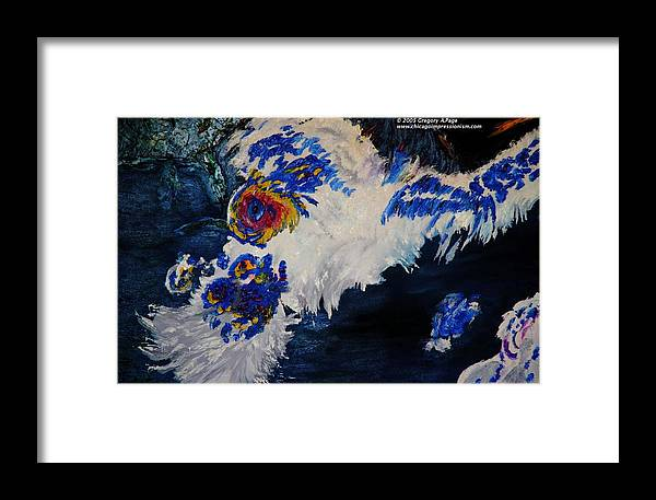 Hurricain Framed Print featuring the painting Goes Water Vapor November by Gregory Allen Page