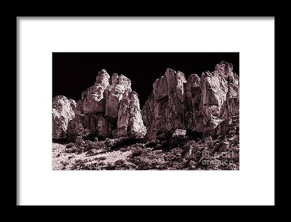 Landscape Framed Print featuring the photograph Going Dark #5 by Adam Reisman