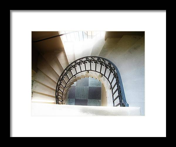 Stairs Framed Print featuring the photograph Going Down by Kat Dee