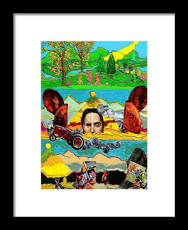 Environment Framed Print featuring the painting Going Going Gone by Lee M Plate