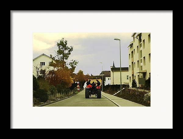 Swiss Scene Framed Print featuring the photograph Going Home by Chuck Shafer