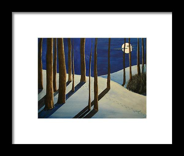 Scenery Framed Print featuring the painting Going Home by Dwight Williams
