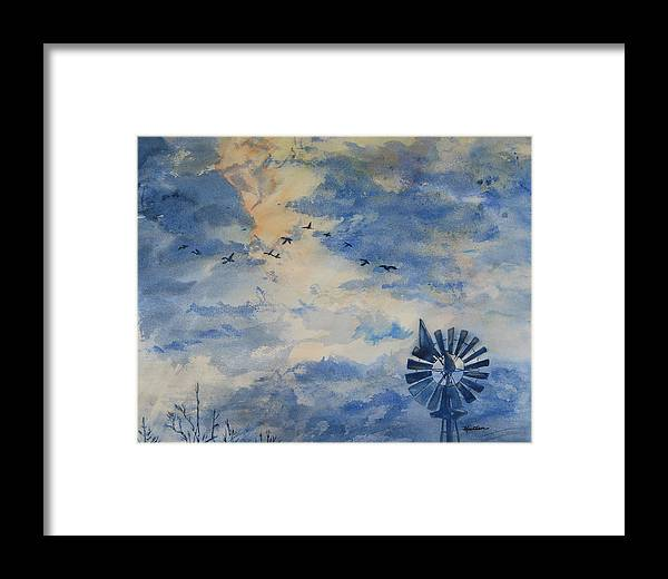 Landscape Framed Print featuring the painting Going Home by Kris Dixon