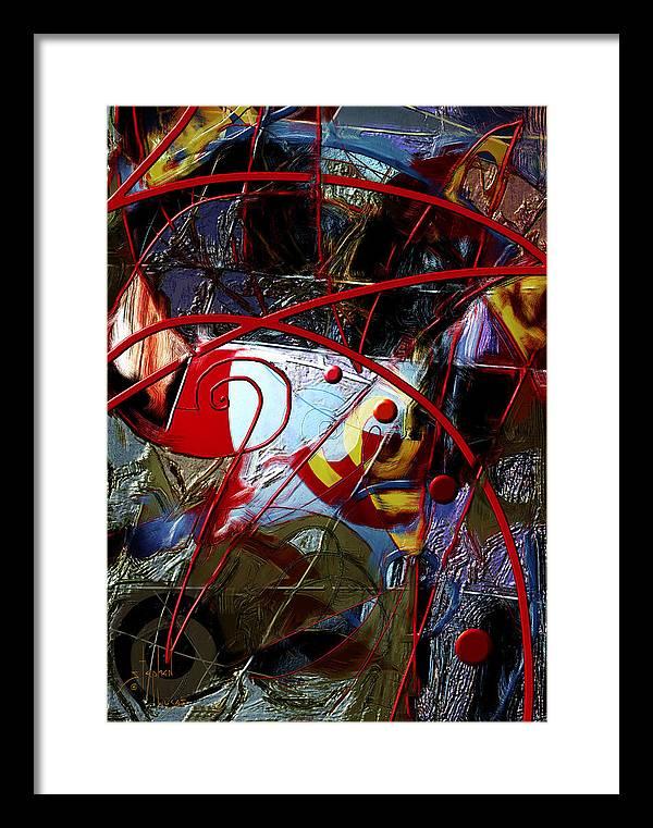 Digital Framed Print featuring the digital art Going Inward by Stephen Lucas