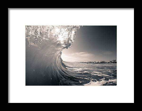Huntington Beach Framed Print featuring the photograph Going Over by Alex Nicolson
