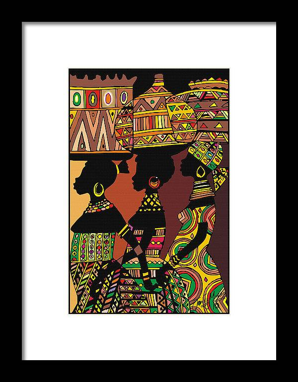 Market Framed Print featuring the painting Going To Market by James Mingo