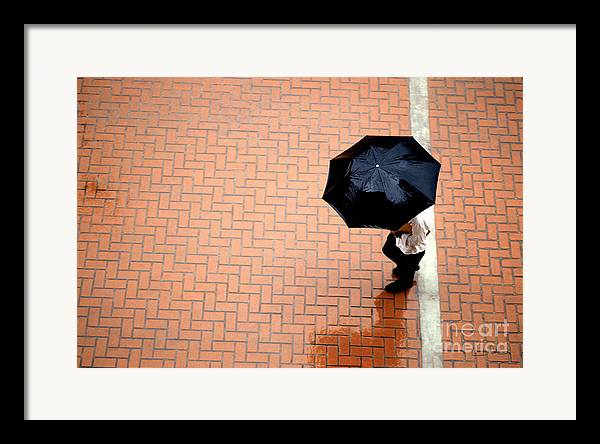 West Framed Print featuring the photograph Going West - Umbrellas Series 1 by Carlos Alvim