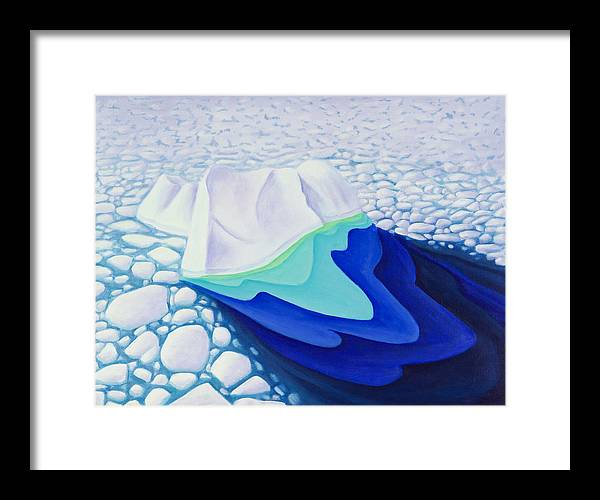 Arctic Framed Print featuring the painting Going With The Floe by Lynn Soehner
