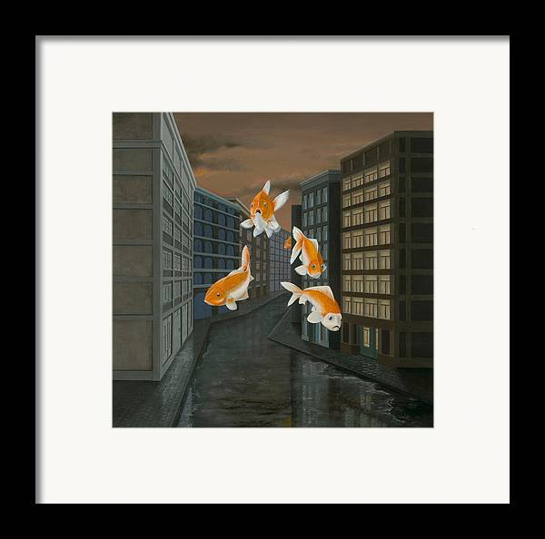 Fish Framed Print featuring the painting Gold Fish by Patricia Van Lubeck