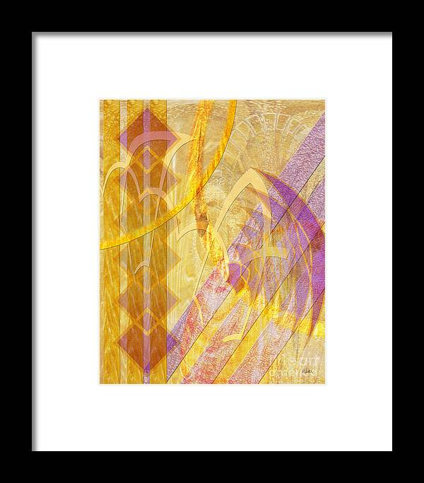 Gold Fusion Framed Print featuring the digital art Gold Fusion by John Beck