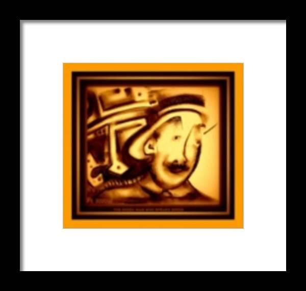 Joan Kamaru Framed Print featuring the digital art Gold Man by J Kamaru