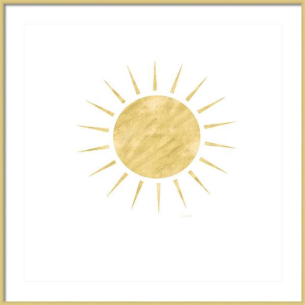 Gold Sun- Art by Linda Woods by Linda Woods
