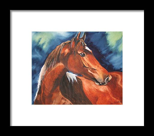 Horse Framed Print featuring the painting Golden Boy by Jean Blackmer