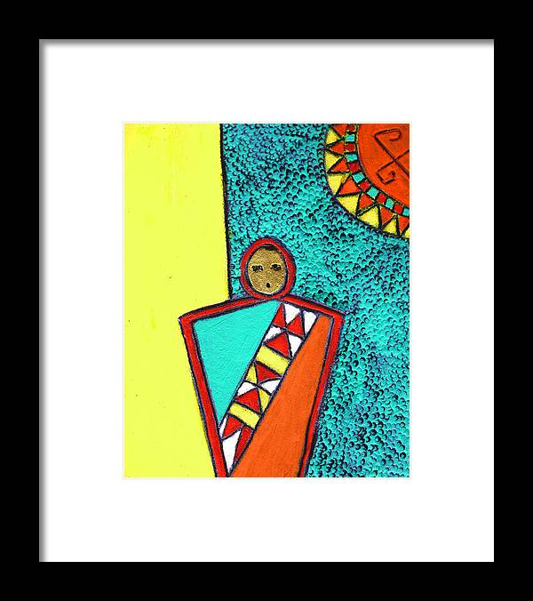 Southwest Framed Print featuring the painting Golden Child Of The South West by Wayne Potrafka