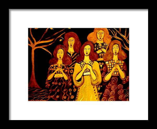 Choir Framed Print featuring the painting Golden Chords by Rusty Gladdish