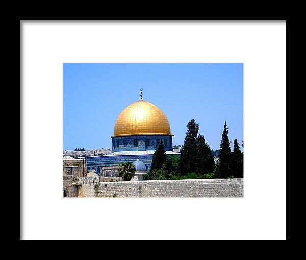 Golden Framed Print featuring the photograph Golden Dome by Roberto Alamino