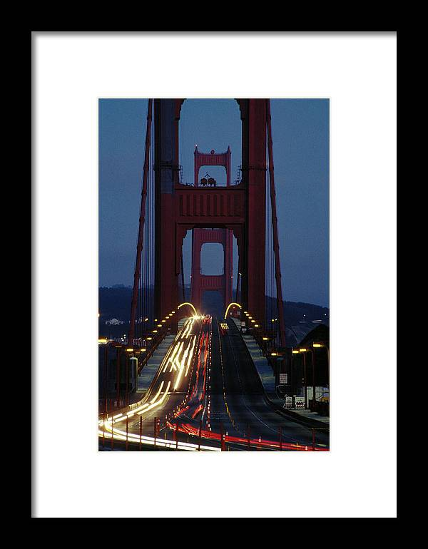 Evening Framed Print featuring the photograph Golden Gate Bridge by Carl Purcell