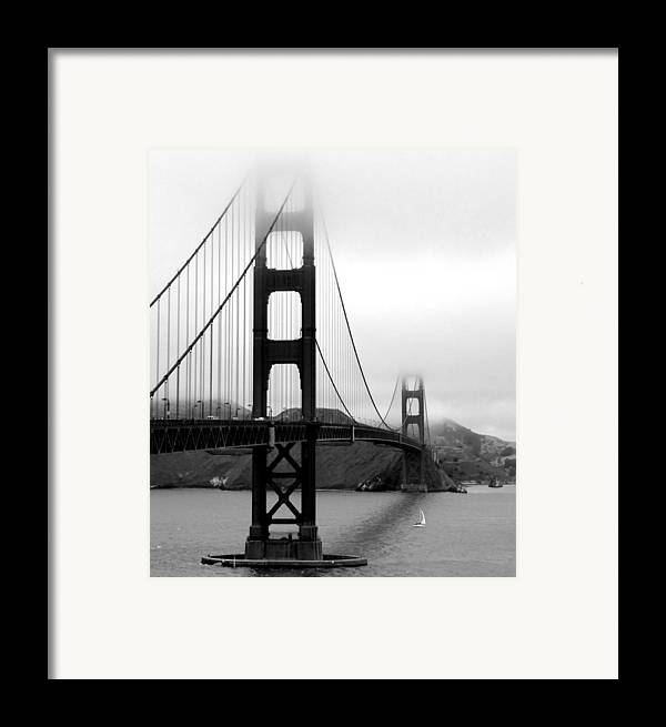 Vertical Framed Print featuring the photograph Golden Gate Bridge by Federica Gentile