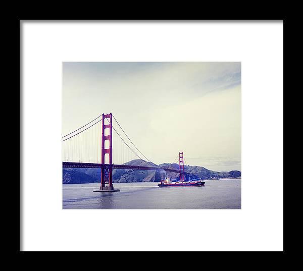 San Fransisco Framed Print featuring the photograph Golden Gate Bridge by Michael Filonow