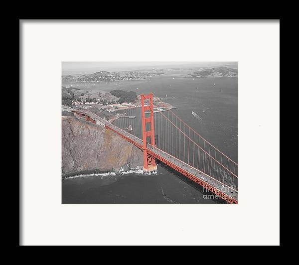 Bridges Framed Print featuring the photograph Golden Gate The Color Of The Bridge by Jerry Patchin