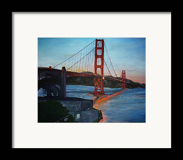San Francisco Framed Print featuring the painting Golden Gate by Travis Day
