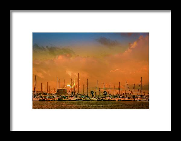 Boat Framed Print featuring the photograph Golden Hour by Jim Allen