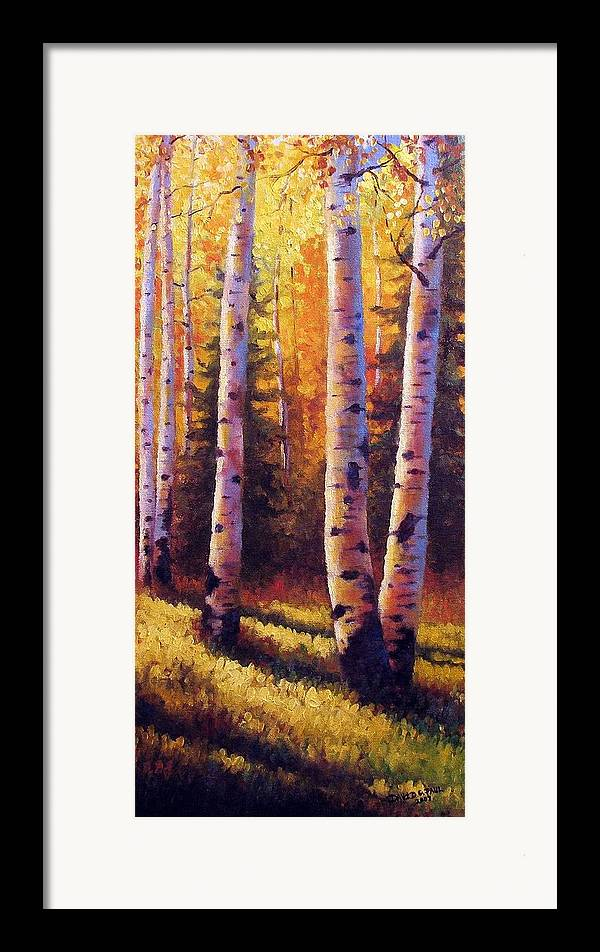 Light Framed Print featuring the painting Golden Light by David G Paul