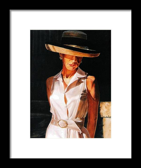 Hat Framed Print featuring the painting Golden Light by Keith Gantos