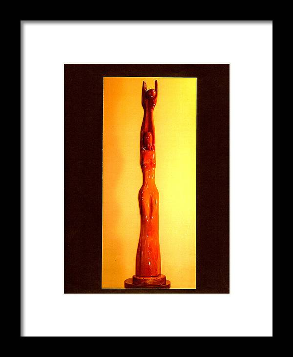 Moon Framed Print featuring the photograph Golden Moon Goddess by Eric Singleton