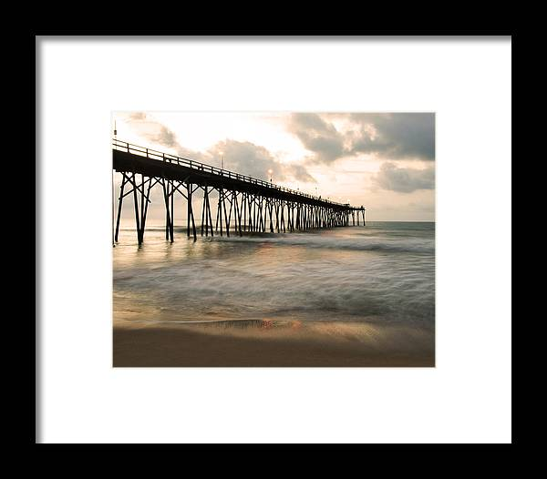 Pier Framed Print featuring the photograph Golden Morning by Paul Boroznoff