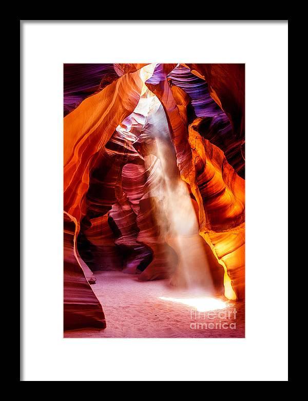 Nature Photography Framed Print featuring the photograph Golden Pillars by Az Jackson
