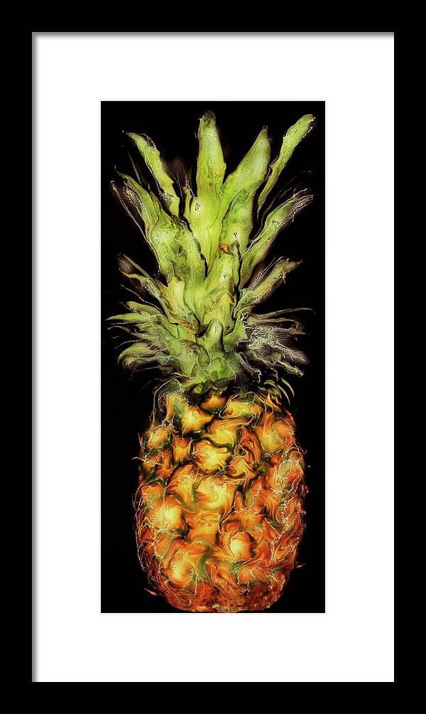 Paul Tokarski Framed Print featuring the photograph Golden Pineapple by Paul Tokarski