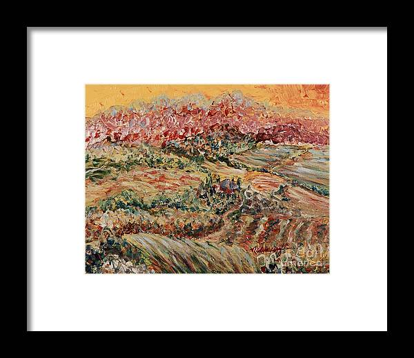 Provence Framed Print featuring the painting Golden Provence by Nadine Rippelmeyer