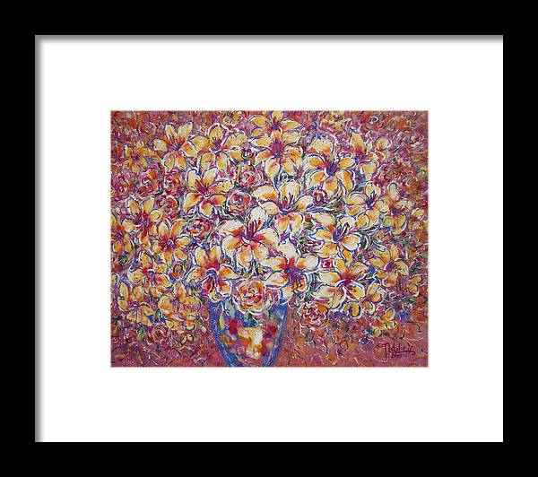 Lily Framed Print featuring the painting Golden Splendor by Natalie Holland