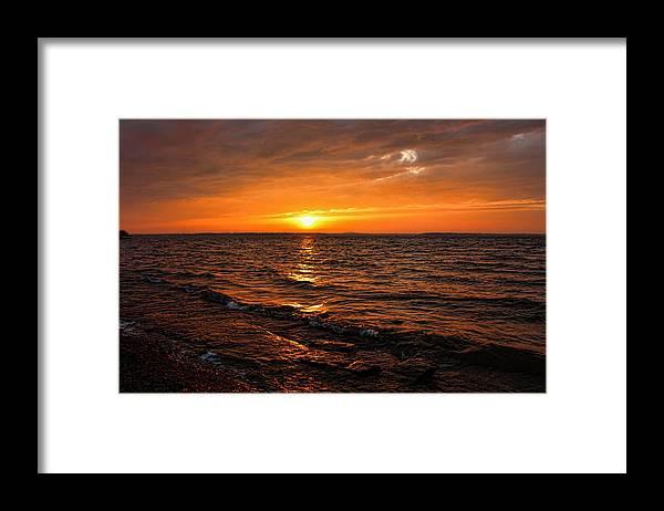 Sunset Framed Print featuring the photograph Golden Sundown by Carolyn Fletcher