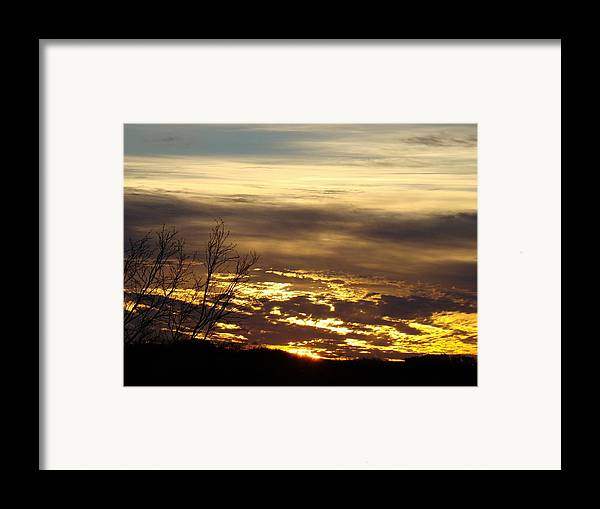 Sunrise Framed Print featuring the photograph Golden Sunrise One by Ana Villaronga