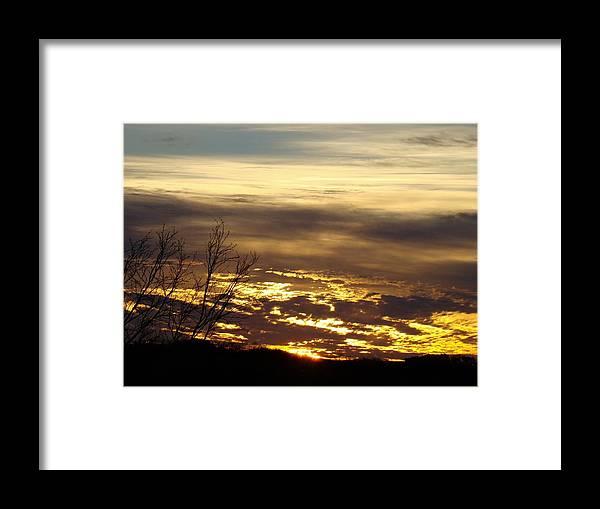 Sunrise Framed Print featuring the photograph Golden Sunrise One by Ana Villaronga