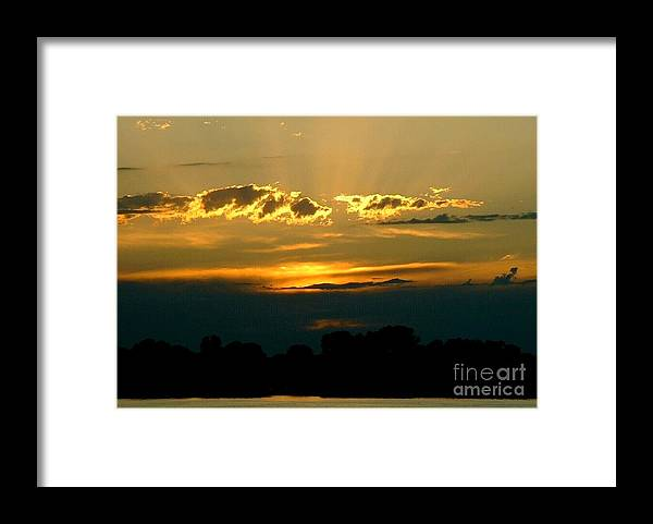Landscape Framed Print featuring the photograph Golden Sunset by D Nigon