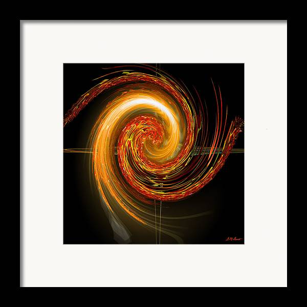 Eastern Framed Print featuring the digital art Golden Swirl by Michael Durst