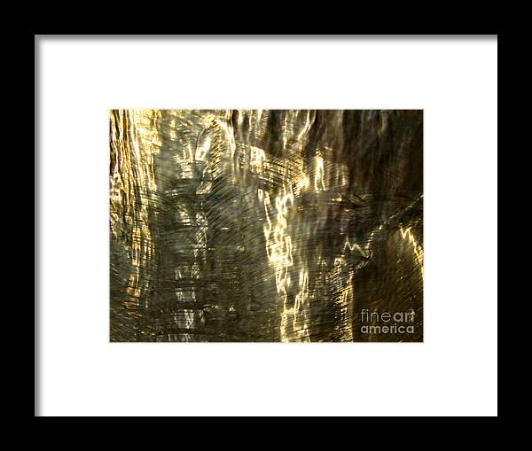 Waterfall Framed Print featuring the photograph Golden Texture by PJ Cloud