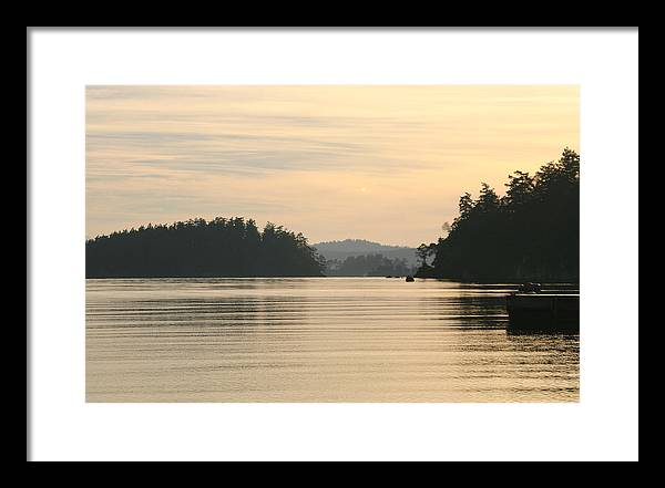 Sunset Framed Print featuring the photograph Golden Waters by Doug Johnson