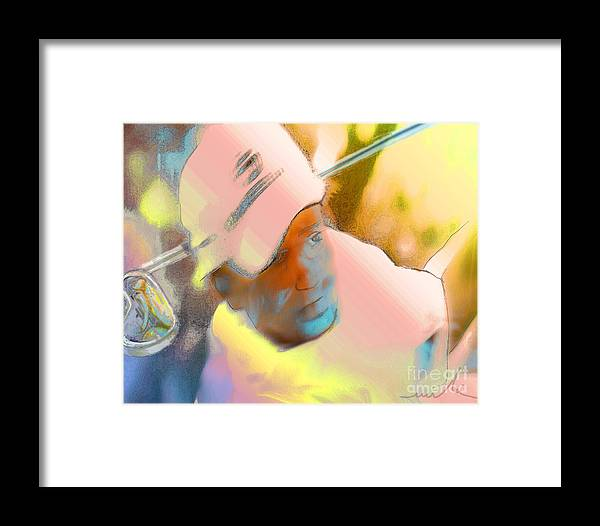 Golf Framed Print featuring the painting Golf Dream by Miki De Goodaboom