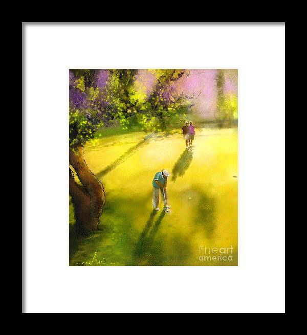 Golf Framed Print featuring the painting Golf In Spain Castello Masters 01 by Miki De Goodaboom