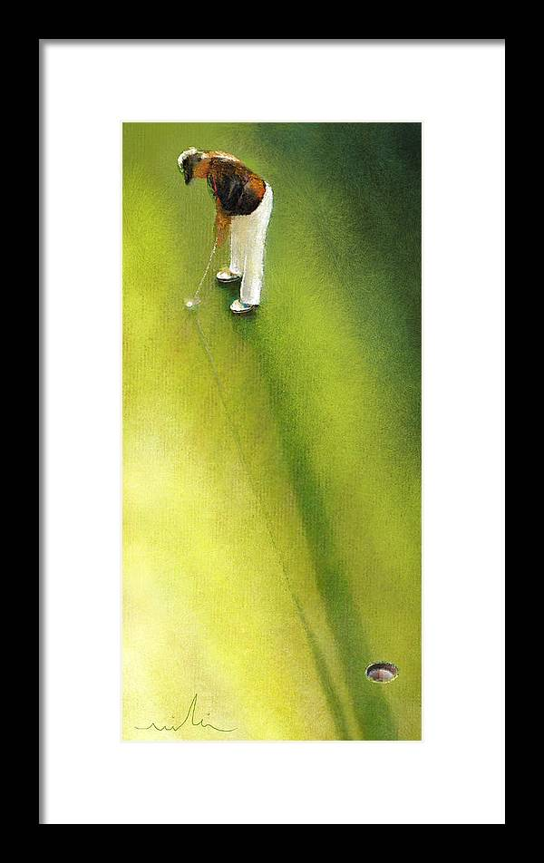 Golf Framed Print featuring the painting Golf In Spain Castello Masters 03 by Miki De Goodaboom