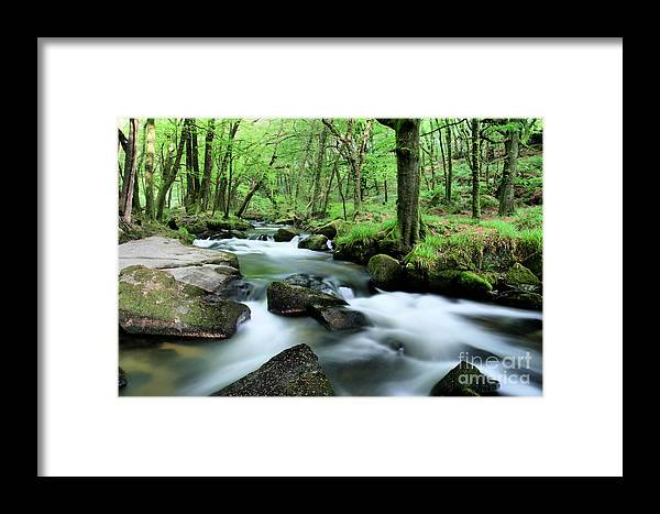 Golitha Framed Print featuring the photograph Golitha Falls by Carl Whitfield